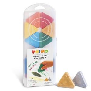 مداد شمعی 12 رنگ Primo مدل Triangles