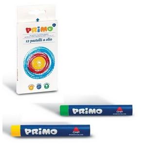 پاستل 12 رنگ پریمو مدل روغنی همراه با لفاف کاغذی