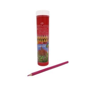 مداد رنگی Faber Castell مدل Castle جعبه فلزی استوانه ای