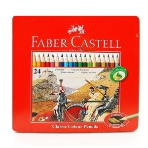 مداد رنگی Faber Castell مدل Kutu جعبه فلزی