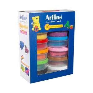 خمیر بازی 10 رنگ Artline مدل 802C10