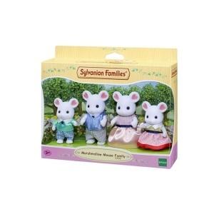 ست اسباب بازی Sylvanian مدل Marshmellow Mouse Family