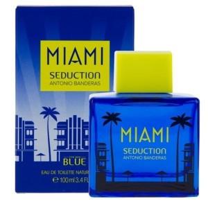 عطر ادو تویلت مردانه آنتونیو باندراس مدل Miami Seduction Blue حجم 100 میلی لیتر