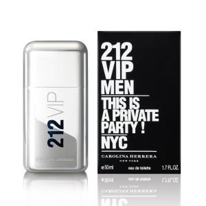 عطر ادوتویلت مردانه کارولینا هررا مدل 212 VIP حجم 50 میلی لیتر