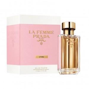 عطر ادوتویلت زنانه پرادا مدل La Femme L Eau حجم 100 میلی لیتر