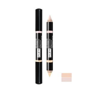 مداد ابرو و چشم پوپا مدل Duo matt & shine 001