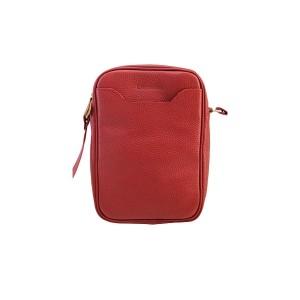 کیف رو دوشی مردانه چرم آرا مدل R0_D079-GHERMEZ-F