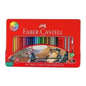 مداد رنگی Faber Castell مدل Tinجعبه فلزی