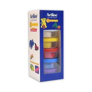 خمیر بازی 5 رنگ Artline مدل Animal