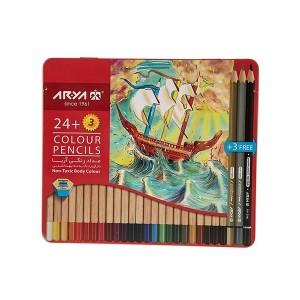 مداد رنگی 3+24 رنگ آریا